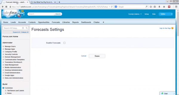 How to effectively use the forecast function in salesforce